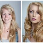 Vohrer- Nachher, oder wie das Make-up einen Menschen verändern kann
